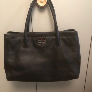 Chanel Classic Tote with Silver Hardware.